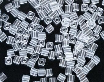 Miyuki Crystal Clear3mm Japanese Glass Cube Bead SB3-131