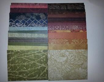 10 Handmade Envelope Trios, Tattered and Worn