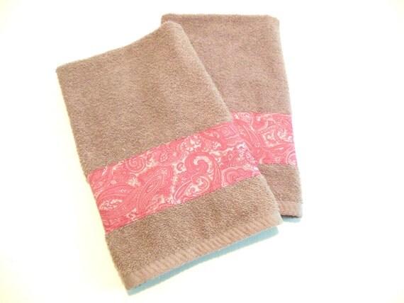Gray rose hand towels decorative bathroom towels kitchen hand - Decorative hand towels for bathroom ...