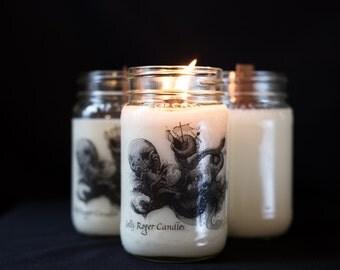 Kraken Wooden Wick Scented Candle