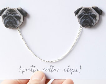 Pug Collar Clips proceeds going to animal rescue charity