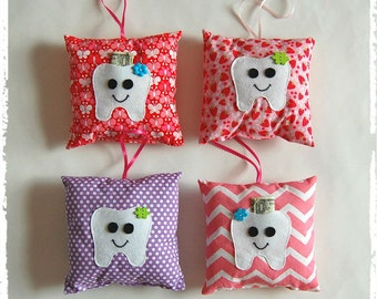 Tooth Fairy Pillow! Tooth monster pillow***Girls tooth pillow***Pillow friend***Pocket for money and tooth***Girls stuffed pillow.