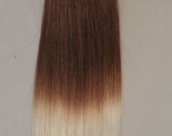 "18"" 100grs,100s,Nail (U) Tip 100% OMBRE Human Hair Extensions #T6/60"