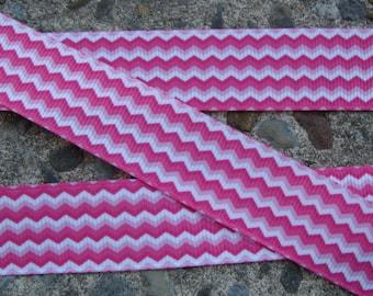 "Chevron Ribbon Pink chevron ribbon 1"" 3yards hair bow ribbon crafts supplies"