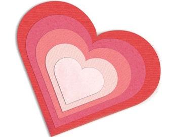 Sizzix 657561 Framelits Die Set 6pk - Hearts