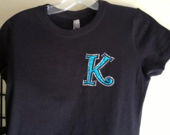 YOUTH initial tee, Initial tee, YOUTH tee, personalized tee