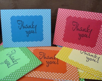 Thank you cards // rainbow cards // polka dot stationary // thank you notes
