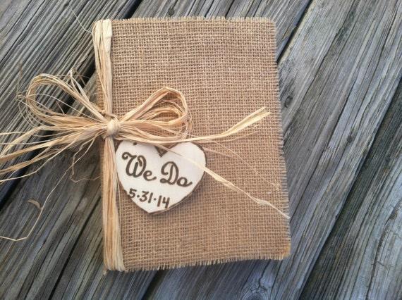 L 39 automne rustique livre d 39 or de mariage mariage par pinensign - Livre d or toile de jute ...