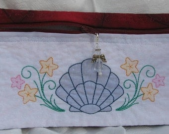 SH-002 Embroidered Quilted Zippered Bag