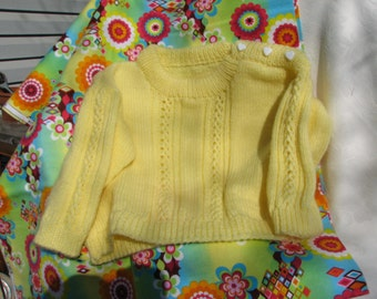 BY-006 Knitted Yellow Sweater