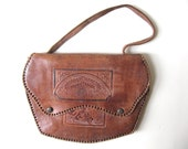 Vintage Indian Leather Purse Circa 1930s/1940s