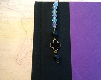 Black and Gold Clip On Bookmark