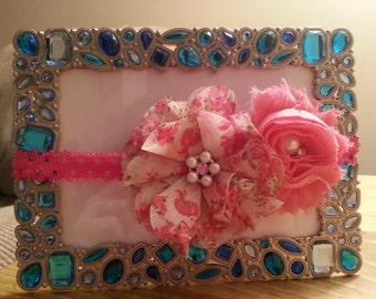 Baby Headband Pink Pearl