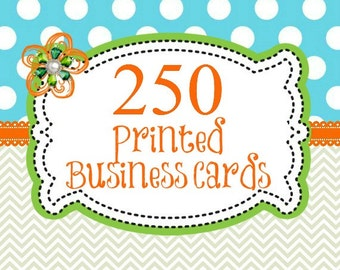 250 Professionally Printed Business Cards, Direct Sales Printed Cards, Company Marketing