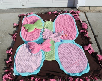 Butterfly Blanket & Pillow Package