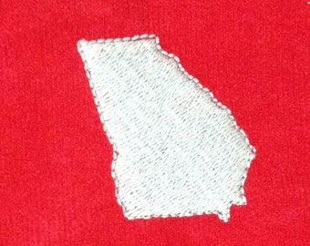 U.S. State (Georgia) appliqué and embroidery design in 7 different styles and sizes.  Buy a state & get 1 free