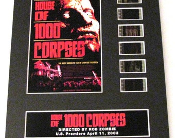 House of 1000 Corpses Rob Zombie horror Frame Ready Matted Movie 35mm Film Cells Standard Series 8x10 Display