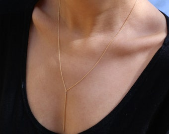Double wrap Slave Bracelet Hand chain // Y lariat necklace-Multi functional Jewelry    EL016