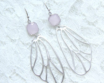 Butterfly Wings Earrings. Wings stone earrings. Statement earrings. Bridesmaids earrings. Wedding earrings. Bridal earrings