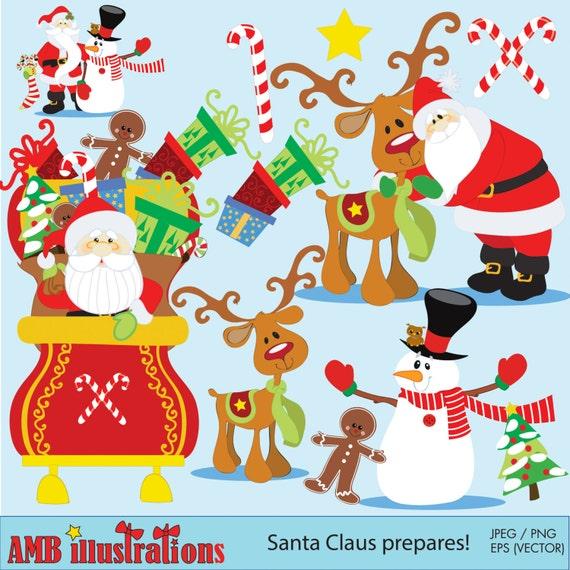 Christmas Clipart Christmas Clip Art Package Vector