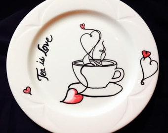 Tea is Love Decorative Plate