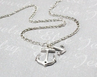 Two Anchor Necklace - Mother Son daughter Necklace Set 1.2.3.4.Family,Anchor. Brothers Present.Boys Girls gift.Friend Gifts,Xmas gifts,