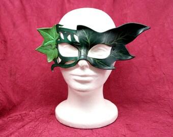 Handmade Leather Ivy Mask