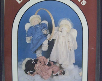 """Dream Spinners 125 """"Stardust"""" Stuffed 22"""" Angel with Halo,Wings,Clothes sewing pattern"""