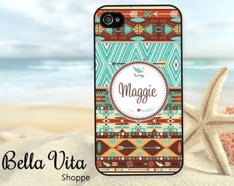 Monogram iPhone 5 Case, Tribal iPhone Case, Cute iPhone 4 Case, Personalized Cover, Monogram iPhone Case. iPhone 6 Case