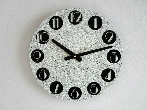 Parete Argento Glitter : Art deco wall glitter argento modello di goldendaysdesigns