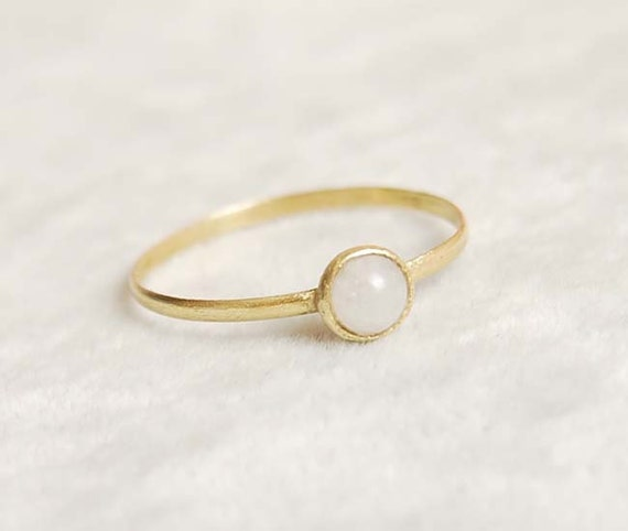 Items similar to 18k goldplate ring moonstone ring gift ...