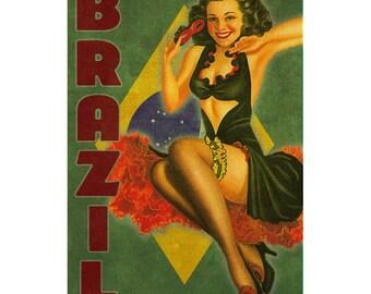 BRAZIL 1PS- Handmade Leather Photo Album - Travel Art