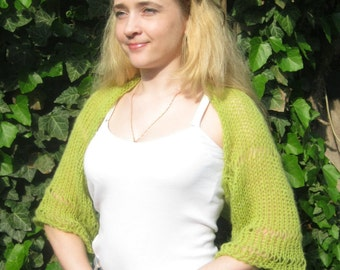 Knitted shrug. Bolero. Summer shrug.