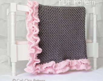 Crochet PATTERN 109 - Foxy Wrap - Crochet Baby Blanket PATTERN 109 - Instant Download PDF