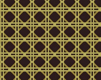 One Yard Northern Exposure - Cane in Olive - Cotton Quilt Fabric - Benartex Fabrics