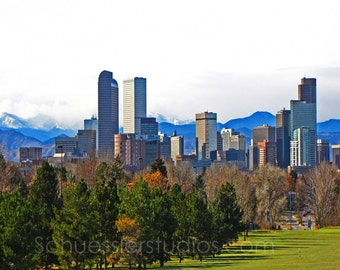 "Downtown Denver Colorado 8 x 10 Fine Art  photography, Print ""Mile High City"""