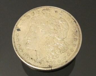 Vintage 1921 D silver Morgan dollar coin