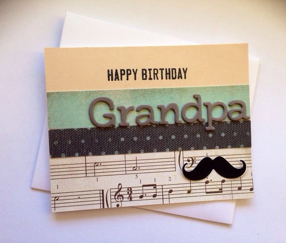 Happy Birthday Grandpa/Birthday Card / Blank Birthday Card