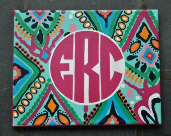 """Lilly Inspired Monogram Canvases (8x10"""")"""