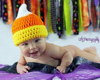 Baby Girl Hat Halloween costume candy corn hat crochet photo prop