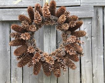 "New Jersey Pine Cone Wreath (12"")"