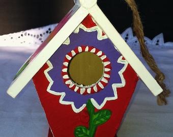 The Flower Power Mini Birdhouse
