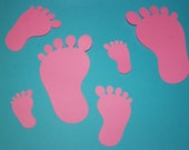 Feet Cut Outs (Various Sizes and Colors Available)
