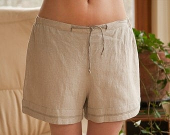 Pure Linen Sleep Shorts