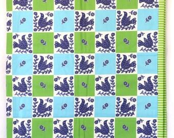 Blue Bird Squares Australian quilt