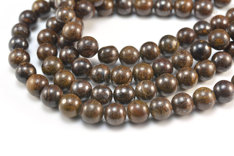 Bronzite round 4 14mm bronze round bead gemstone bead for Birthstone beads for jewelry making