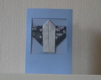 Origami Happi Coat card (FREE Postage in UK)