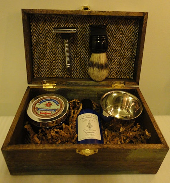 Cool Wedding Gifts For Groomsmen: Groomsmen Shaving Kit Ombre Vintage Rustic By