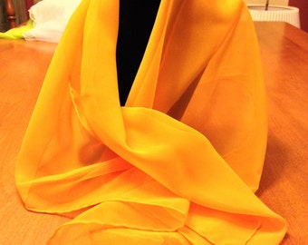 Tangerine Orange Chiffon Scarf