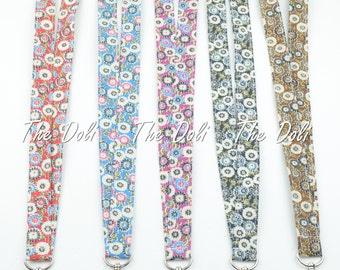 Breakaway Lanyard Floral Fabric Key Chain for ID badge~ Cell Phone ~Key Holder~